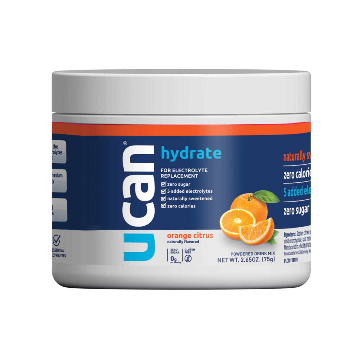 UCAN Orange Citrus Hydrate Electrolyte Jar