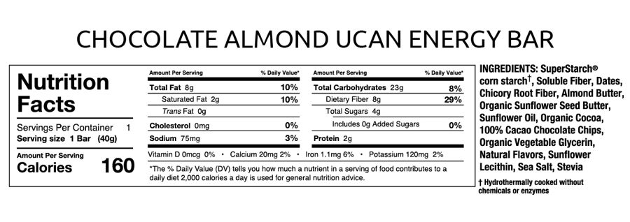 UCAN Chocolate Almond Butter Energy Bar