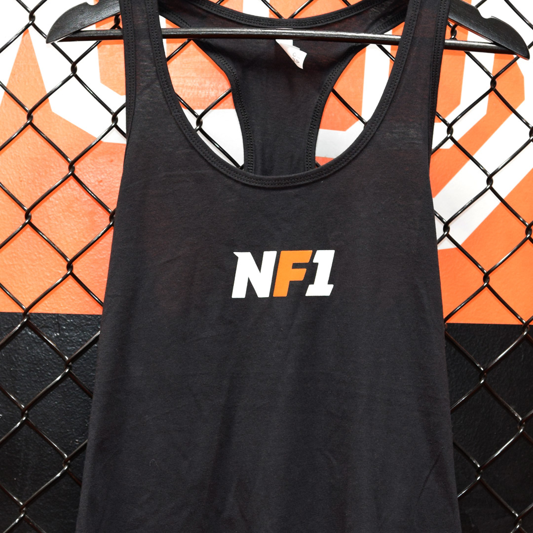 NF1 Ladies Black Racerback Tank